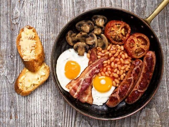 cosa mangiare a londra: full english breakfast