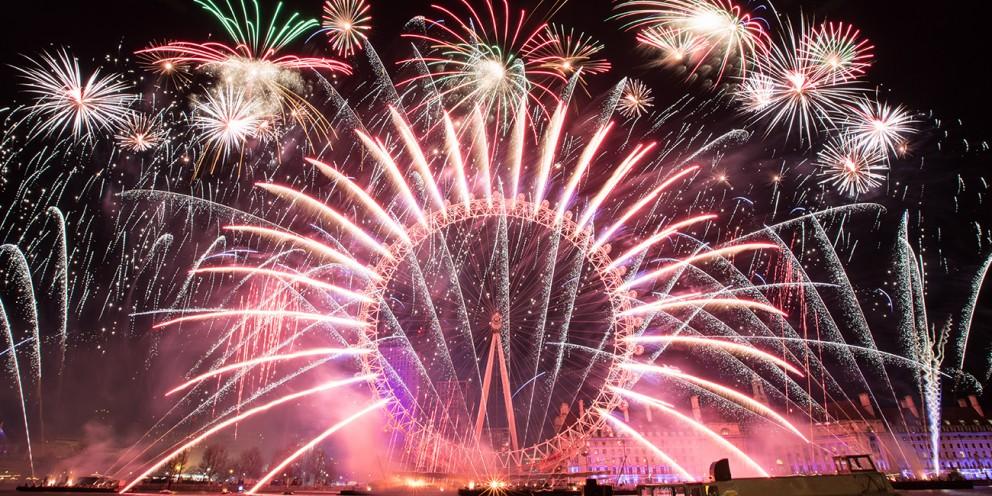 fuochi artificio capodanno londra 2020 london eye