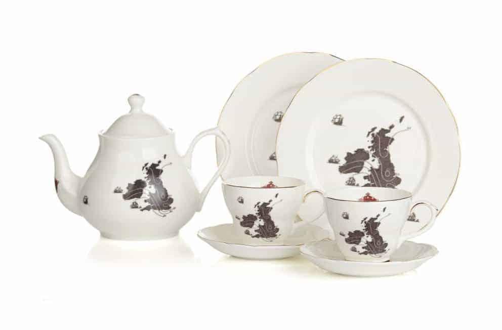 teiera e tazze londra souvenir