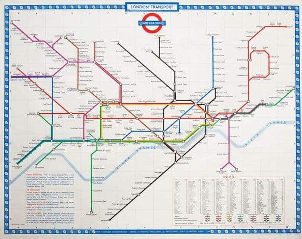 mappa metro 1960